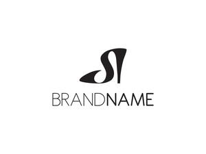 S harfi ayakkabı logo logo