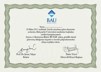 Busar sertifika