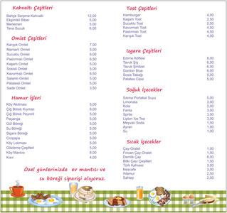 Bizim bahce menu 2
