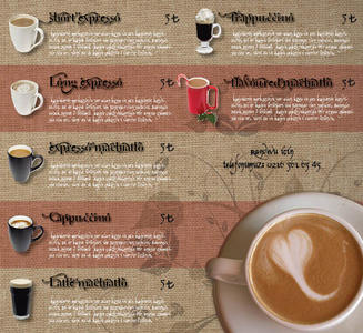 Coffee menu cs62