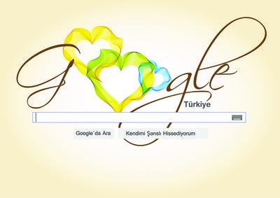 Google sevgililer g n  tasar m m