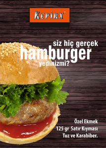 Kepirx hamburger afi   50x70 1 adet i  mekan