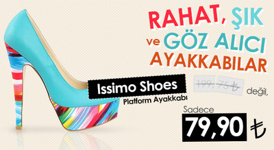 Issimo shoes banner