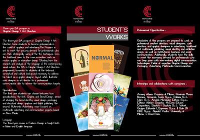 Graphic design  art di rection back page
