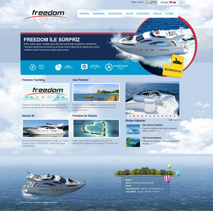 Freedom yachting web sitesi