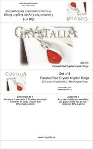 Crystalia napkin rings red kutu  tr