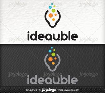 Dusunce baloncuklari fikir logo tasarimi