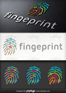 Dijital parmak izi logo tasarimi
