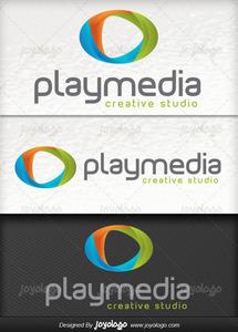 3d medya oynaticisi logo tasarimi