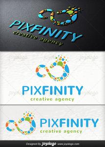 Piksel noktalar sonsuzluk logo tasar m