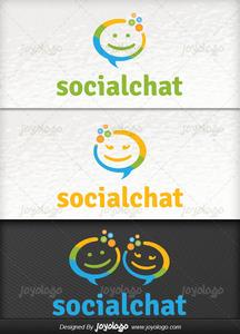 Konu ma baloncuklar  sosyal chat logo tasar m