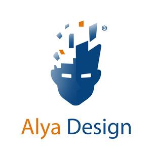 Alya design logo k   k