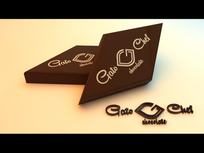 Gato chef chocolate logo  al  mam