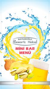 Minibar menu 150x270 mm 1