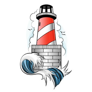 Lighthouse tattoo 01