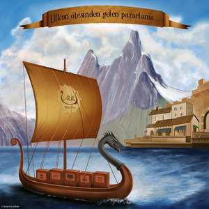 Valhalla facebook tanitim banner illustrasyon