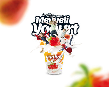 Yummy meyveli yogurt