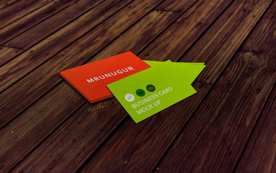 Business card mock up by mrunugur d6u77y3