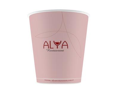 Alya restaurant karton bardak