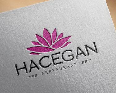 Hacegan restaurant logo tasar m