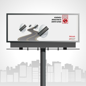 Blank billboard vector  converted