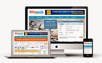 Biletonik web sitesi tasarimi