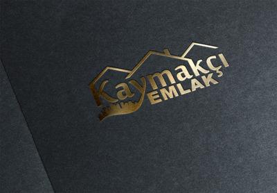 Kaymak i emlak logo mockup