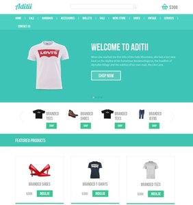 Aditii a flat ecommerce responsive web template
