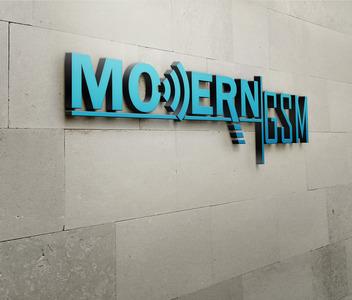 Modern duvar mock