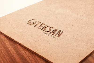 Teksan logo mock up