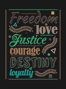 Freedom typography