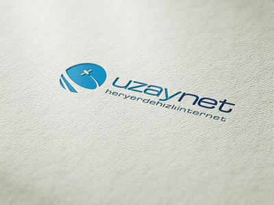 Uzaynet logo tasarim