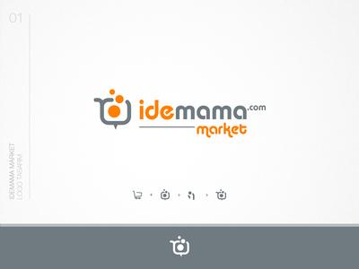 Idemama market logo design