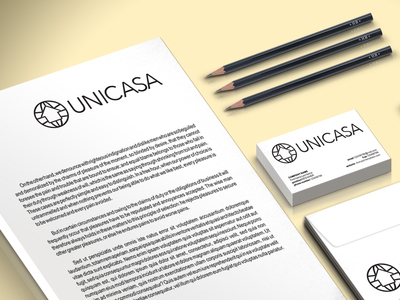 Unicasa branding mockup a3
